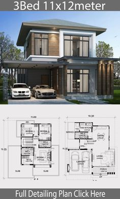 Zen Home Design . Zen Home Design . Small Home Design Plan with 3 Bedrooms Modern House Plans, Small House Plans, Modern House Design, House Floor Plans, 2 Storey House Design, Modern Minimalist House, Architectural House Plans, Home Building Design, House Layouts