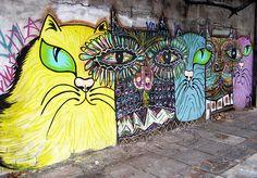 CyBeRGaTa: Kitteh Graffiti - Cat Street Art From Around the World, Part III .... Buenos Aires, Argentina
