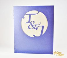 Personalised initial cut-out wedding invitation, navy gold blush wedding invite, Gold Envelopes, Blush Wedding Invitations, Navy Gold, Personalized Invitations, Card Stock, Initials, Etsy Seller, Colours, Creative