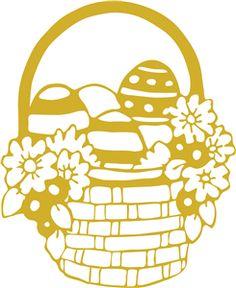 Silhouette Online Store - View Design #26783: spring basket