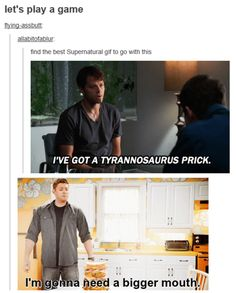 the supernatural fandom has a gif for everything