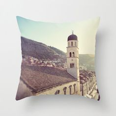 photography pillow cover travel photography dubrovnik croatia europe architecture throw pillow beige home decor