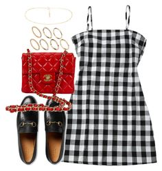 """""""Untitled #4186"""" by theeuropeancloset ❤ liked on Polyvore featuring Gucci and Pieces"""