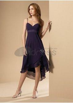 robe pourpre de demoiselle d'honneur courte