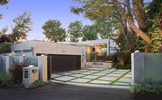 mid century modern driveway - Google Search