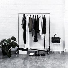 Some serious wardrobe envy going on ✔️ via @kaity_modern  #monochrome #blackandwhite #wardrobe