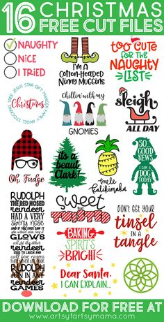 Free Christmas Story SVG 16 Christmas Cut Files We're back with more free Christmas Cut Files! Make Christmas Crafts with your Cricut Maker, Cricut Explore or Silhouette Cameo with these adorable free Christmas svg files! Christmas Svg, A Christmas Story, Christmas Quotes, Christmas Stuff, Funny Christmas Sayings, Cute Christmas Shirts, Christmas Things To Do, Christmas Glasses, Pallet Christmas