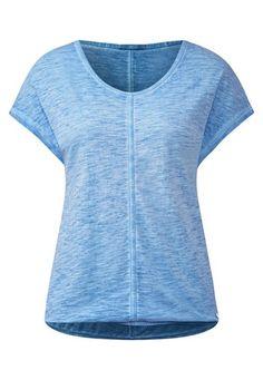 CECIL CECIL V-Neck Shirt im Batiklook blau