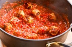 Kalyn's Kitchen®: Roasted Spaghetti Squash Recipe with Homemade Tomato-Garlic Sauce and Chicken Sausage Meatballs