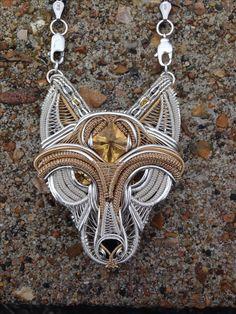 """""""Lone Wolf"""" by Dub Design Handmade Jewelry www.facebook.com/DesignsByTheDub"""