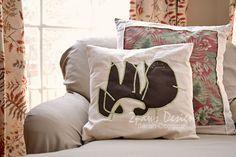 Pillow based on child's drawing. #DIY #sewing #kids #dinosaur