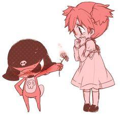 Aww! Child Giroro and Natsumi.