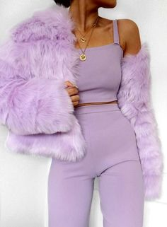 30 Fantastic Fall Outfits from Stylish for Ladies, You can collect images you discovered organize them, add your own ideas to your collections and share with other people. Lila Outfits, Purple Outfits, Mode Outfits, Trendy Outfits, Fashion Outfits, Fashion Trends, Ladies Fashion, Co Ords Outfits, Fashion Ideas