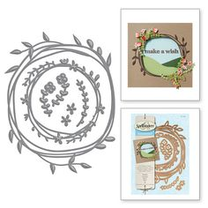 Spellbinders® takes adorable to the next level with our Woodland Collection. Let your imagination wander through a whimsical world with our Woodland inspired shapes. Create a cute Woodland wreath that