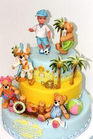 Torturi - Viorica's cakes: Tort botez Poveste pentru Walter jr.