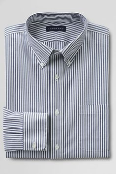 Men's Tailored Fit 40's Poplin Dress Shirt from Lands' End