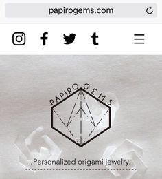 Papiro Gems has a brand new web page!   www.papirogems.com  Check it out and don't forget to subscribe!  #tw #webdesign #papirogems #newwebsite #origami #papiroflexia #handmade #handmadejewelry #jewelry