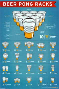 Beer Pong Racks Poster at AllPosters.com