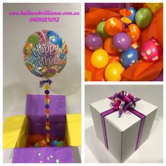 Balloon In A Box Send BalloonsHappy Birthday BalloonsBalloon DeliveryQuinceanera