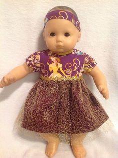 "doll clothes 15"" Bitty Baby Purple Gold Disney Princess Belle dress twins girl #Disney Princess Belle Dress, Disney Princess Belle, Bitty Baby Clothes, Doll Clothes, Girl Dolls, Baby Dolls, Twin Girls, Purple Gold, American Girl"