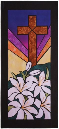 Easter Church Banner Patterns   Glory In The Cross – $ 12.50