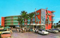 Sea Dip Motel and Apartments - Daytona Beach, Florida Fully Air Conditioned Route 1233 So. CL Directly on the Beach Florida's only nylon covered. Old Florida, Vintage Florida, Florida Beaches, Florida Vacation, Florida Hotels, Vacation Memories, Summer Memories, Beach Hotels, Childhood Memories