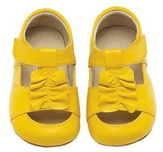 1bc6006a13a yellow ruffle shoes. by jsk Stylish Little Girls, Baby Fashionista, Baby  Love,