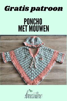 Pattern # for # Sleeves # # Poncho Hook # # # Sleeves # # Toddler # # Toddler # – kinder mode Crochet Bebe, Crochet For Kids, Crochet Shawl, Poncho With Sleeves, Crochet Clothes, Crochet Flowers, Kindergarten, Crochet Patterns, About Me Blog
