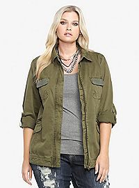 TORRID.COM - Military Shirt Jacket