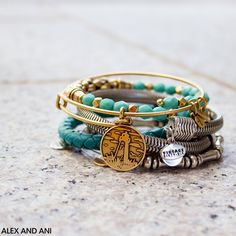 ALEX AND ANI Bangles! Uncharted Voyage Wraps, Bamboo Beaded, and Lighthouse Charm Bangle!