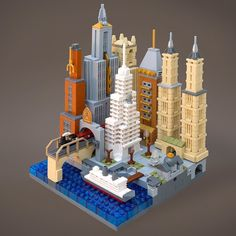 #lego #city inspired by #1920s #nyc #architecture by jeff_works