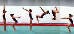 Learn Gymnastics for beginners :-) I really should try this!