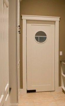 Grey swinging door it 39 s all in the details pinterest for Swinging kitchen doors residential