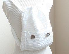 Crochet Backpack PATTERN,Drawstring Backpack Pattern,Backpack Purse Pattern, Crochet Bag Pattern,Purse Pattern Bag,Crochet Purse Pattern