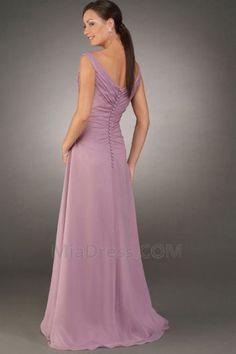 Επίσημη Φυσικό Αμάνικο Καλοκαίρι Μήκος πατωμάτων Γραμμή Α Μητέρα της νύφης φόρεμα