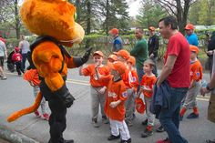 Caddie attends the Opening Day Parade for Colonie Little League!