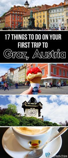 17 Things To Do In Graz, Austria. From an adorable duck-themed café to a 16th century clock tower, surfing on the Mur River and unusual modern architecture, Graz in Austria is quirky, colourful and full of great things to do. https://www.wanderlustchloe.com/graz-austria-things-to-do/