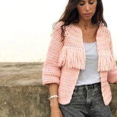 Crochet Jacket Pattern, Crochet Jumper, Crochet Coat, Crochet Cardigan, Crochet Clothes, Diy Clothes, Crochet Patterns, Maxi Cardigan, Crochet Men