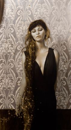 Sensual Paintings Gilded with Flecks of Gold and Silver Leaf | Jeannie Huang