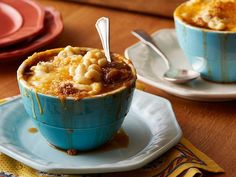 French Onion Macaroni and Cheese Soup recipe from Food Network Kitchen via Food Network