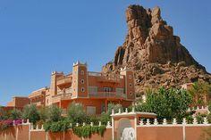 The village of Tafraoute in Atlas Mountains, Morocco.