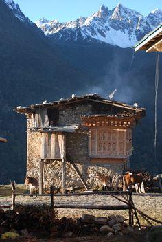Village of Laya Bhutan
