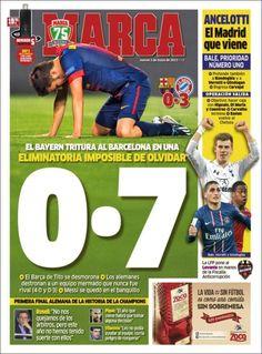 Los Titulares y Portadas de Noticias Destacadas Españolas del 2 de Mayo de 2013 del Diario Deportivo MARCA ¿Que le parecio esta Portada de este Diario Español?