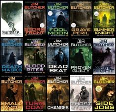 Jim Butcher. The Dresden series.  We first watched a short TV series about the Chicago wizard, and then read all of the books in the series so far.  Fun reads.