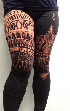 DIY Tribal Print Leggings DIY Clothes DIY Refashion