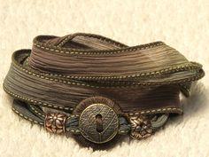 Whirly Wrap Silk Ribbon Wrap Bracelet in neutral by MaryMercedes, $36.00