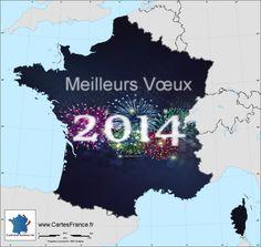 Carte de voeux 2014. Meilleurs vœux et bonne année 2014 !