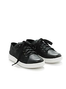 Clifton Sneaker in Washed Leather and Sport Suede-EF44335A