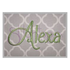 Alexa Monogram Set 1 2 3 by Stitchtopia.com