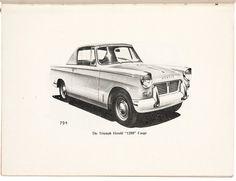 TRIUMPH. Triumph Herald 1200.  Warwick Printing Company for Triumph #motoring #cars #vintage